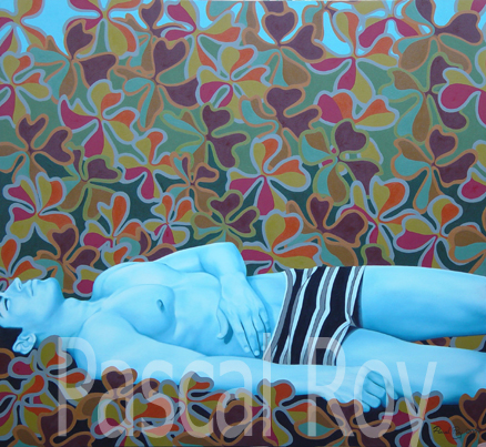 Lying peacefully, 110cms x 120cms, 2004 stolen